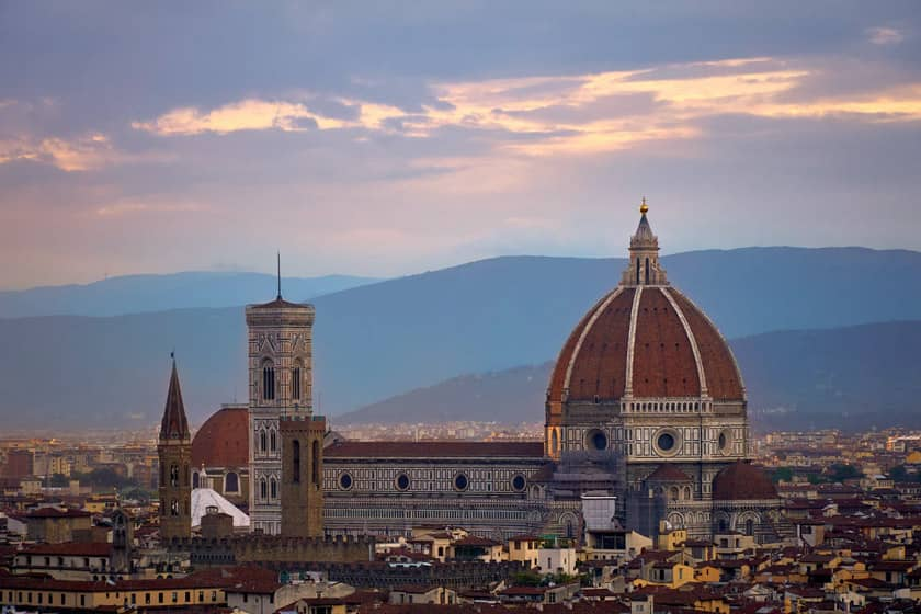 Florence Cathedral - Map of Italy