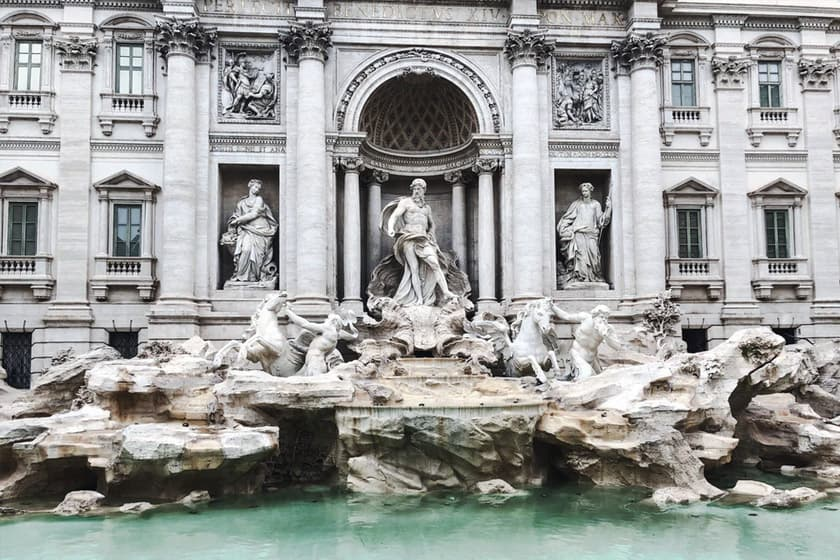 map of rome: trevi fountain