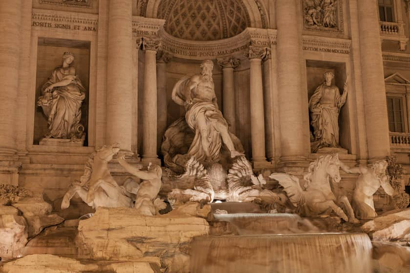 Trevi Fountain - Map of Italy
