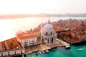 map of venice: drone